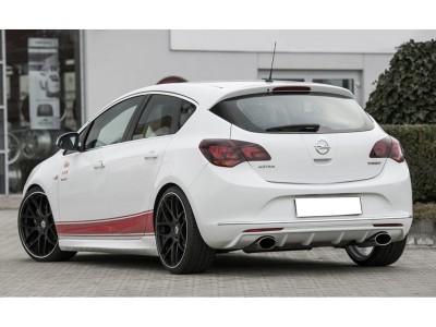 Opel Astra J Facelift Retina Rear Bumper Extension