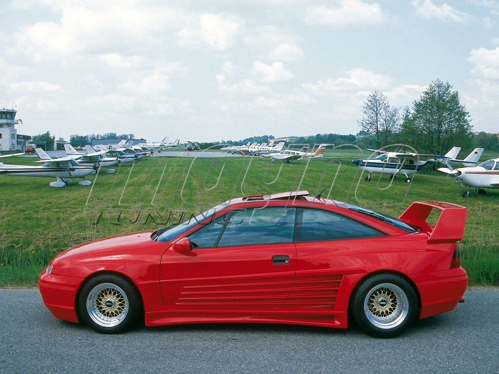 Opel Calibra Storm Wide Body Kit on opel calibra car