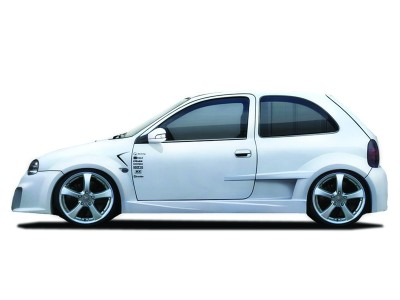 Opel Corsa B Optimum Wide Front Wheel Arch Extensions