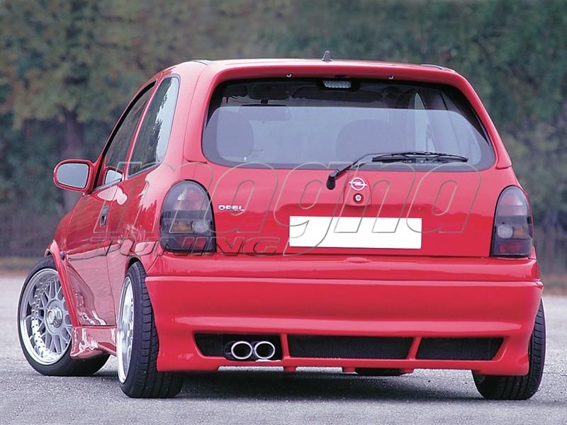 Opel Corsa B Recto Rear Bumper Extension