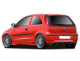 Opel Corsa C Facelift RX Rear Bumper Extension
