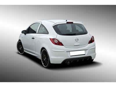 Opel Corsa D Facelift DTS Rear Bumper Extension