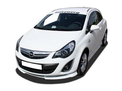 Opel Corsa D Facelift V1 Front Bumper Extension