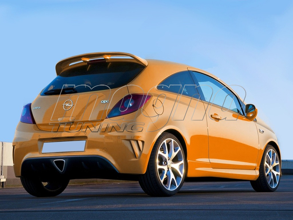 opel corsa d opc look rear wing. Black Bedroom Furniture Sets. Home Design Ideas