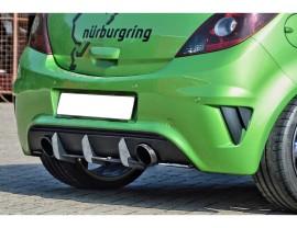 Opel Corsa D OPC Nurburgring Isota Rear Bumper Extension
