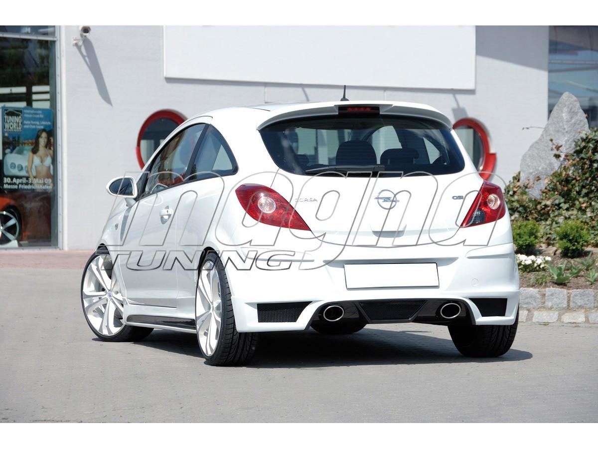 Opel Corsa D Vortex Rear Bumper Extension