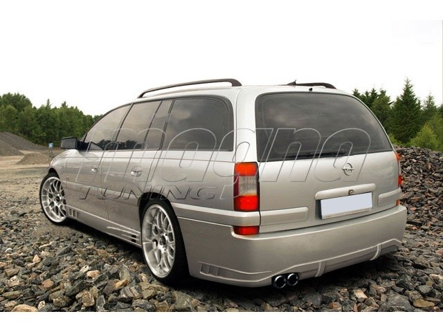 opel omega b caravan facelift bm rear bumper. Black Bedroom Furniture Sets. Home Design Ideas