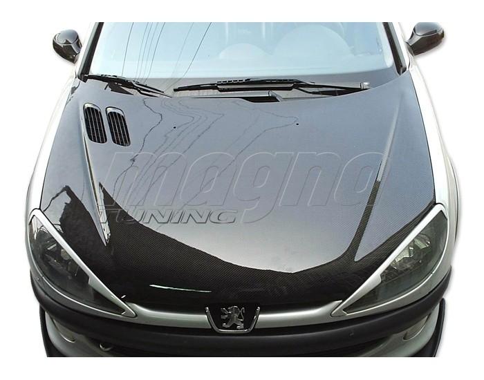 Peugeot 206 Capota OEM Fibra De Carbon