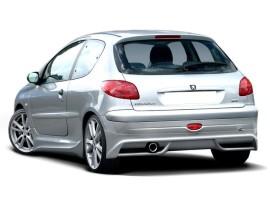 Peugeot 206 Extensie Bara Spate J-Style