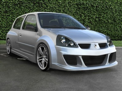 Renault Clio MK2 Macave Wide Front Wheel Arch Extensions