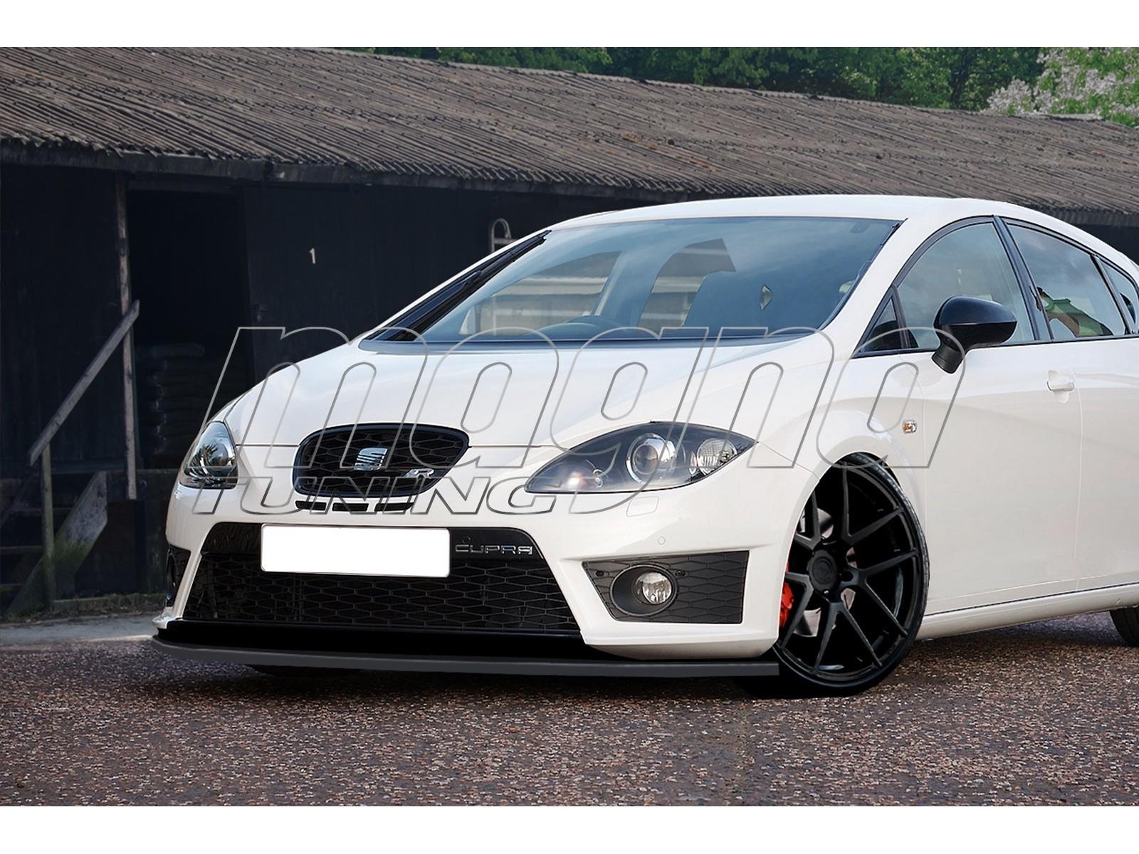 seat leon 1p cupra fr facelift intenso front bumper extension. Black Bedroom Furniture Sets. Home Design Ideas