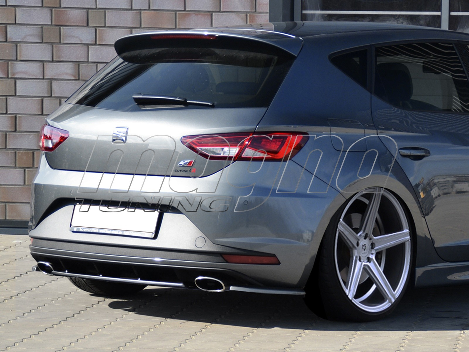 seat leon 5f cupra intenso rear bumper extension. Black Bedroom Furniture Sets. Home Design Ideas