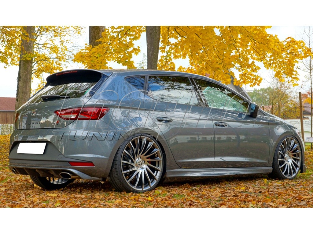 seat leon 5f cupra vector rear bumper extension. Black Bedroom Furniture Sets. Home Design Ideas