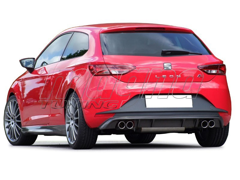 seat leon 5f fr e style rear bumper extension. Black Bedroom Furniture Sets. Home Design Ideas
