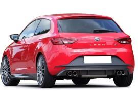 Seat Leon 5F FR E-Style Rear Bumper Extension