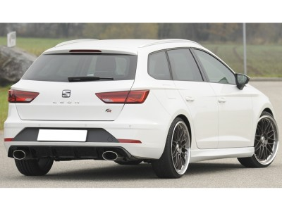 Seat Leon 5F FR ST Facelift Retina Rear Bumper Extension