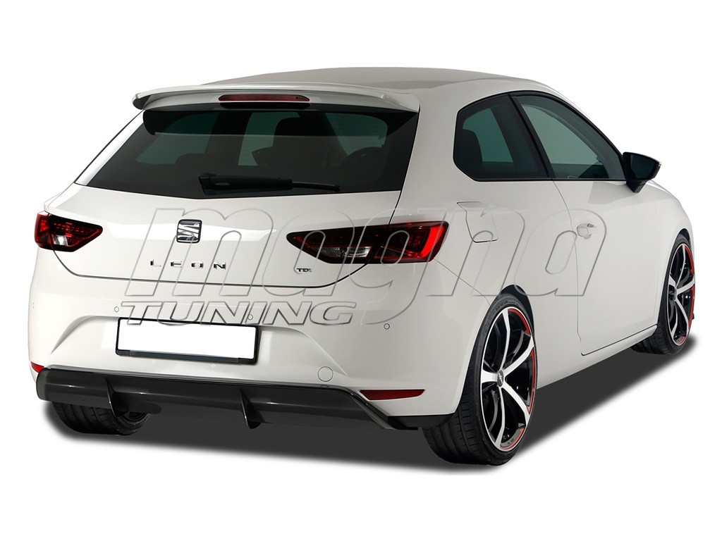 seat leon 5f rx rear bumper extension. Black Bedroom Furniture Sets. Home Design Ideas