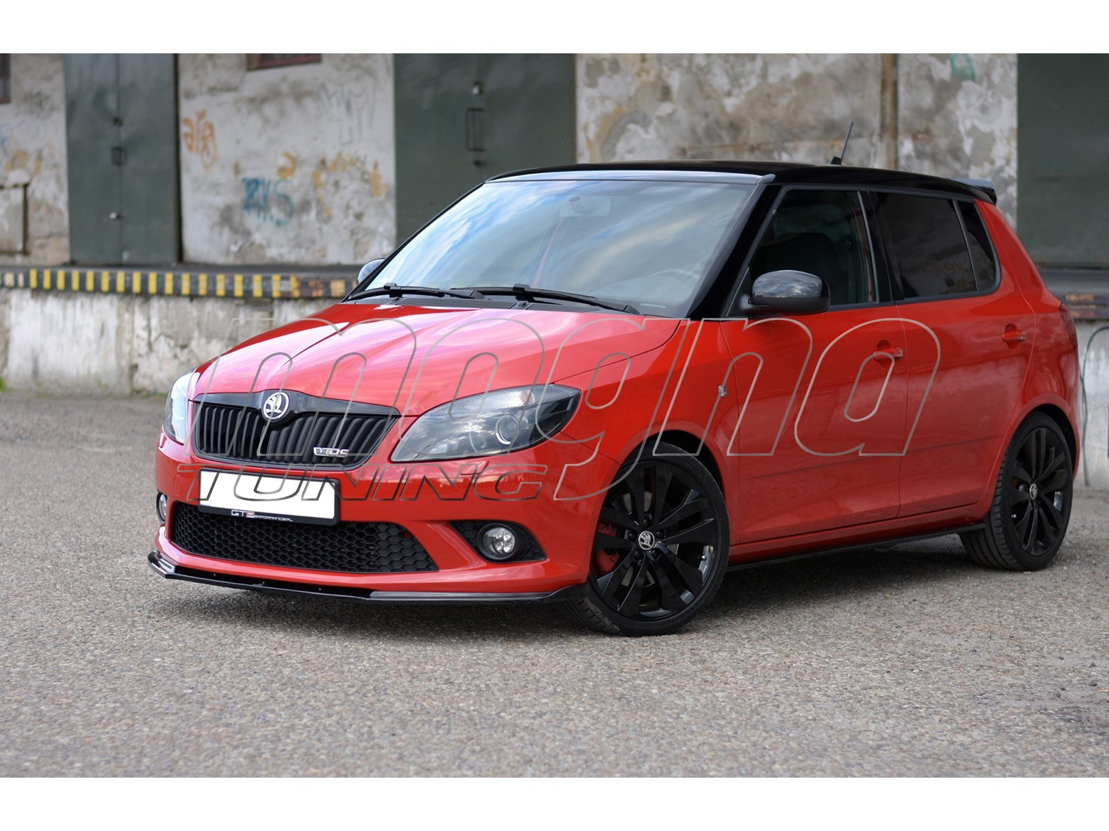 skoda fabia mk2 rs stream front bumper extension. Black Bedroom Furniture Sets. Home Design Ideas