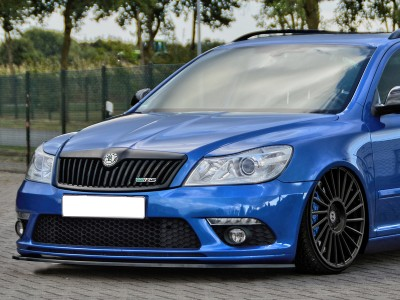 Skoda Octavia MK2 1Z RS Facelift Invido Front Bumper Extension