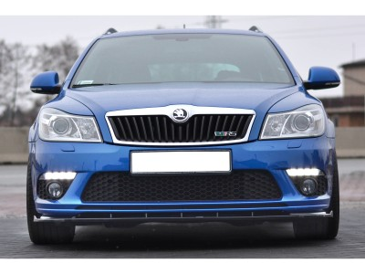 Skoda Octavia MK2 1Z RS Facelift Matrix Front Bumper Extension