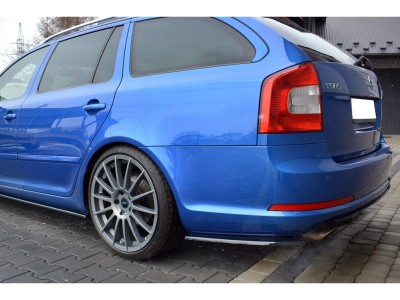 Skoda Octavia MK2 1Z RS Facelift Matrix Rear Bumper Extensions
