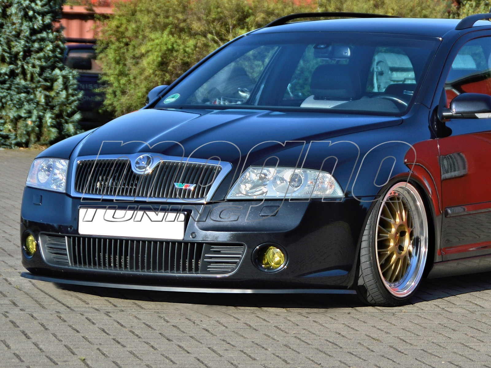 skoda octavia mk2 1z rs intenso front bumper extension. Black Bedroom Furniture Sets. Home Design Ideas