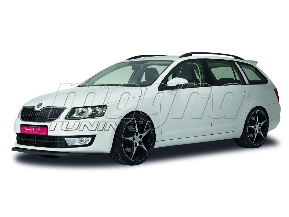 skoda octavia mk3 5e crono front bumper extension. Black Bedroom Furniture Sets. Home Design Ideas
