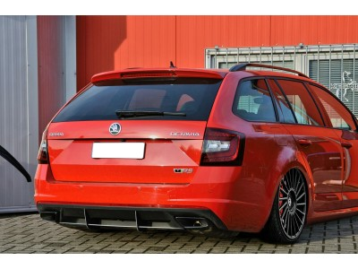 Skoda Octavia MK3 5E RS Facelift Invido Rear Bumper Extension