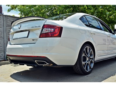 Skoda Octavia MK3 5E RS Facelift Master Rear Bumper Extension