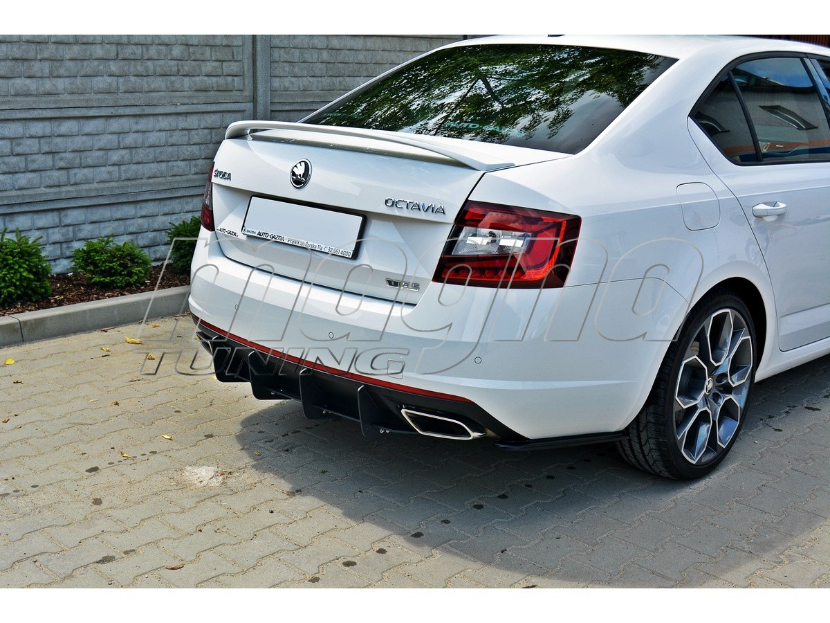skoda octavia mk3 5e rs facelift racer rear bumper extension. Black Bedroom Furniture Sets. Home Design Ideas