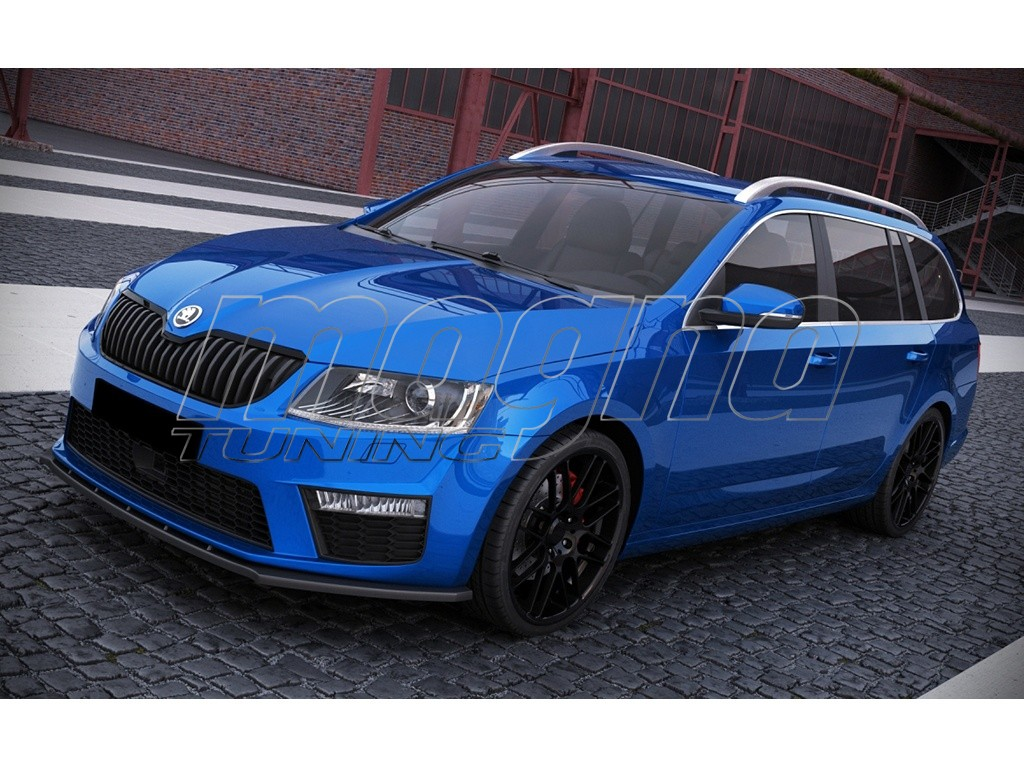 skoda octavia mk3 5e rs m line front bumper extension. Black Bedroom Furniture Sets. Home Design Ideas