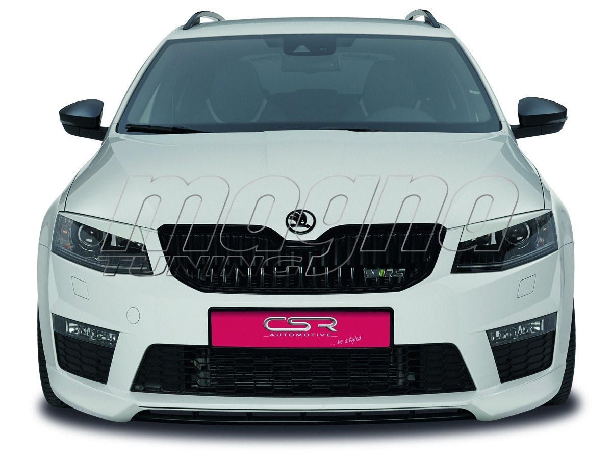 skoda octavia mk3 5e rs newline front bumper extension. Black Bedroom Furniture Sets. Home Design Ideas