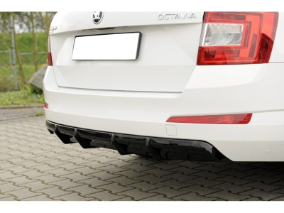 Skoda Octavia MK3 5E Vector Rear Bumper Extension