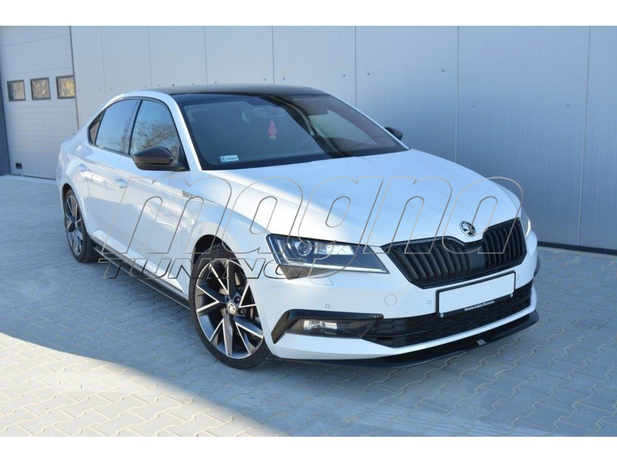 skoda superb b8 3v mx front bumper extension. Black Bedroom Furniture Sets. Home Design Ideas