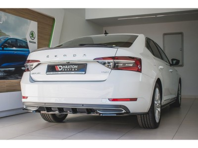 Skoda Superb B8 3V Matrix Rear Bumper Extension