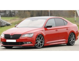 Skoda Superb B8 3V Razor Front Bumper Extension