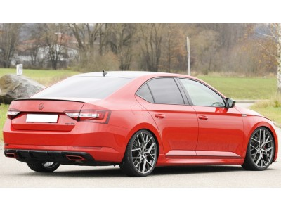 Skoda Superb B8 3V Recto Rear Bumper Extension