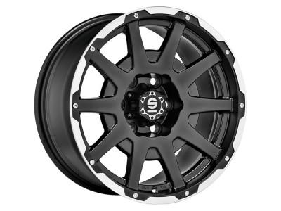 Sparco Dakar Matt Black Lip Polished Wheel