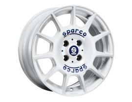 Sparco Terra White Blue Lettering Wheel