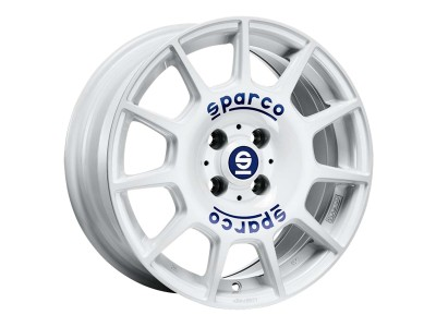 Sparco Terra White Blue Lettering Wheel