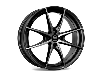 Sparco Trofeo 4 Fume Black Full Polished Felge