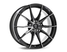 Sparco Trofeo 5 Fume Black Full Polished Felge