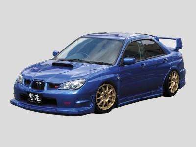 Subaru Impreza MK2 Facelift S-Line Front Bumper Extension