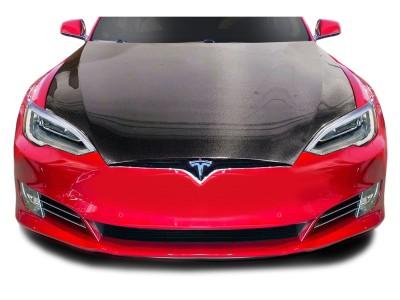 Tesla Model S Facelift Capota OEM-Style Fibra De Carbon