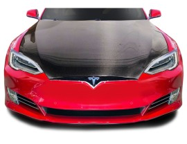 Tesla Model S Facelift OEM-Style Carbon Motorhaube