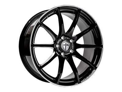 Tomason TN1 Black Rim Polished Wheel