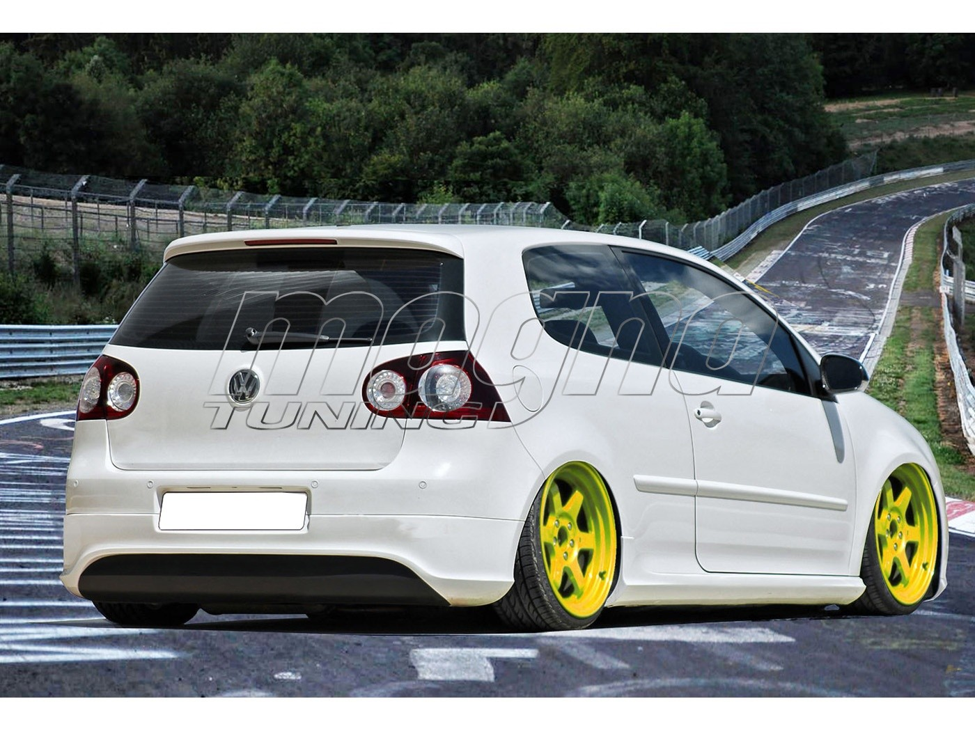 vw golf 5 r32 clean look rear bumper extension. Black Bedroom Furniture Sets. Home Design Ideas