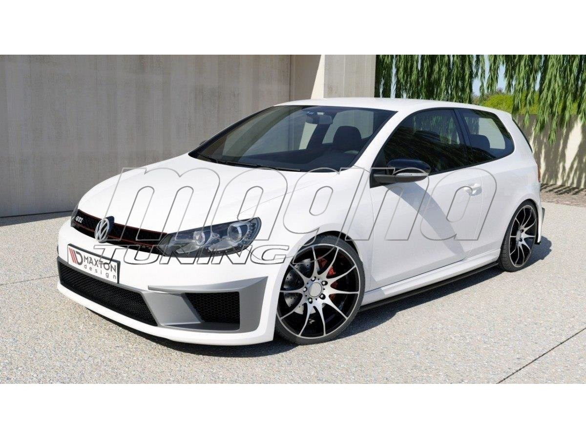vw golf 6 gti r400 look frontstossstange. Black Bedroom Furniture Sets. Home Design Ideas