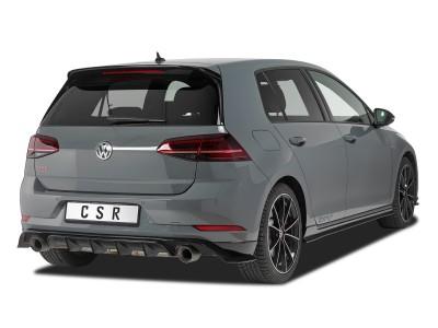 VW Golf 7 Facelift TCR-Look Rear Bumper Extension