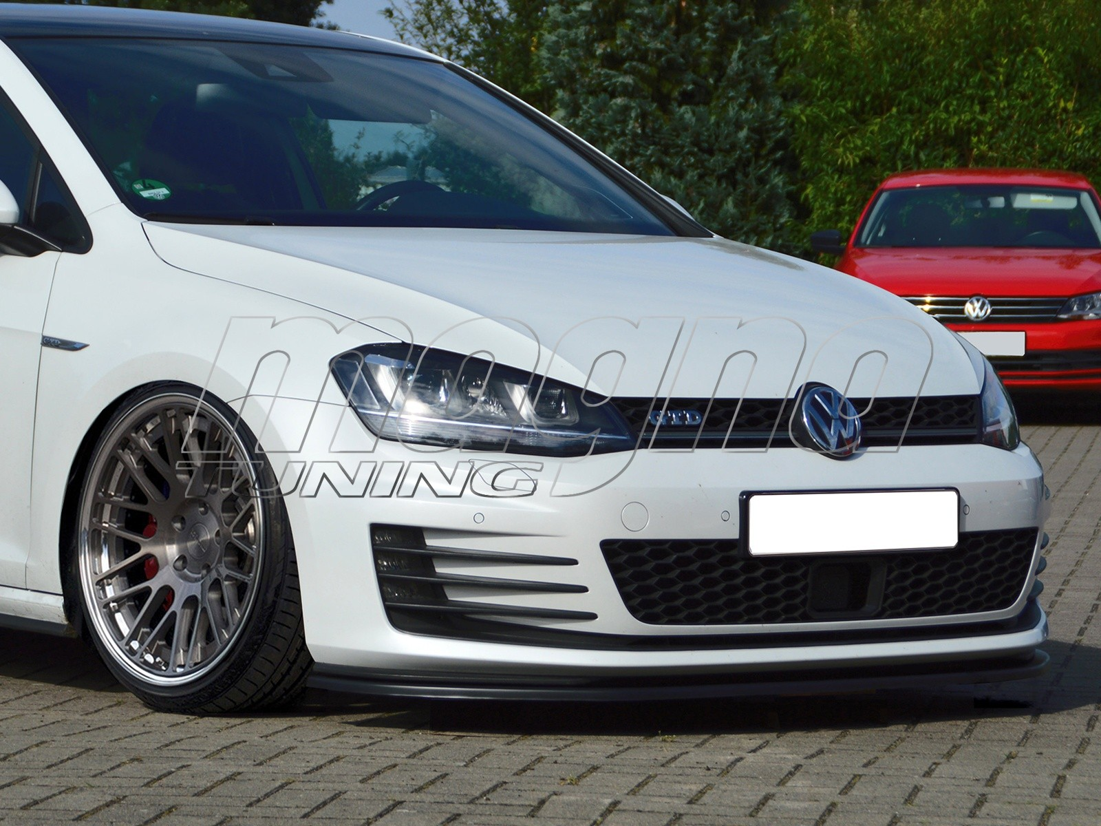 vw golf 7 gti gtd i line front bumper extension. Black Bedroom Furniture Sets. Home Design Ideas
